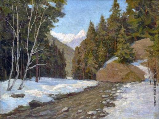 Жуковский С. Ю. Горный пейзаж. Швейцария