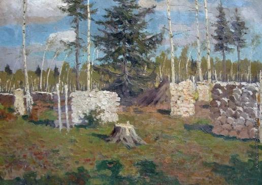 Жуковский С. Ю. Пейзаж с дровами