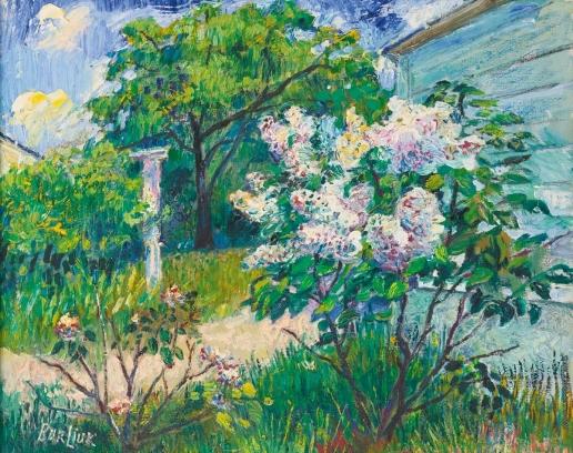 Бурлюк Д. Д. Цветы в саду