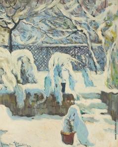 Альтман А. Сад зимой
