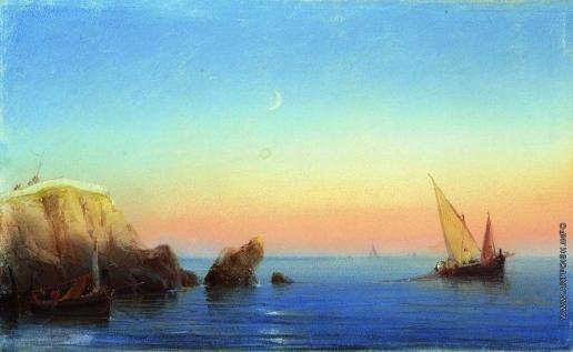 Айвазовский И. К. Тихое море. Скалистый берег