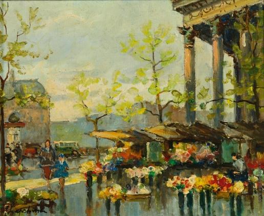 Лапшин Г. А. Цветочный базар