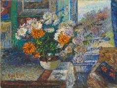 Бурлюк Д. Д. Цветы в гостиной