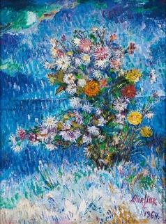 Бурлюк Д. Д. Цветы в снегу