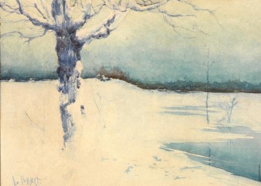 Бакст Л. С. Зимний пейзаж