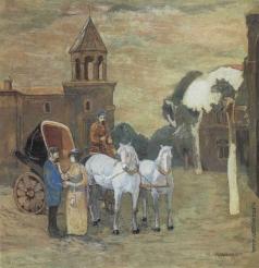 Атоян Р. Г. Фаэтон с белыми лошадьми