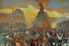 Бакст Л. С. Карнавал в Париже в честь прибытия русских моряков 5 октября 1893 года
