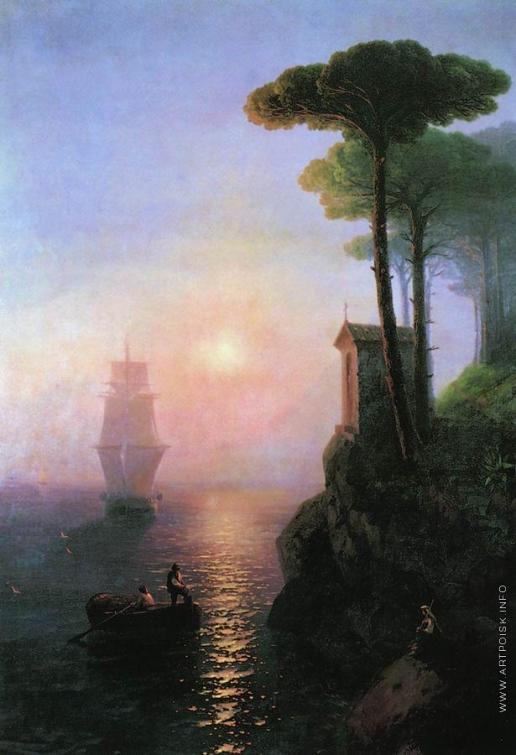 Айвазовский И. К. Туманное утро в Италии