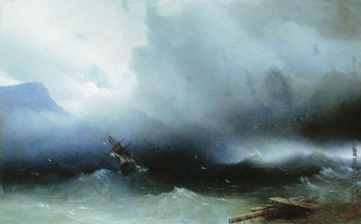 Айвазовский И. К. Ураган на море