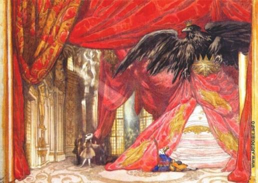 """Бакст Л. С. Эскиз декорации к """"Спящей красавице"""". Сцена пробуждения"""