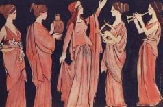 Аралова-Паттерсон В. И. Эскизы костюмов к спектаклю театра им. Моссовета «Бунт женщин»