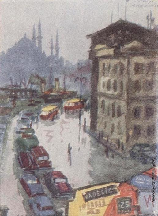 Абрамов М. А. Стамбул. У причала