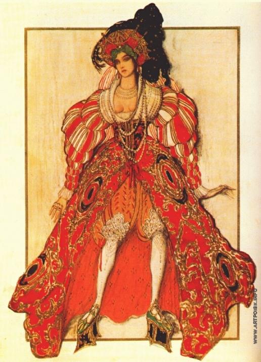 "Бакст Л. С. Эскиз костюма к балету ""Легенда об Иосифе"". Жена Потифара"