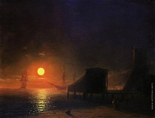 Айвазовский И. К. Феодосия. Лунная ночь