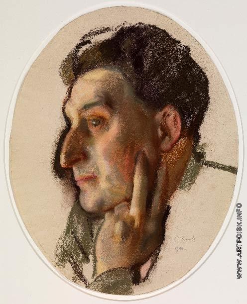 Сомов К. А. Портрет М. Г. Лукьянова в профиль