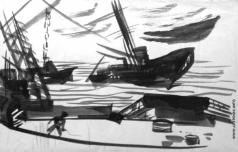 Федоровский Ф. Ф. Пейзаж с кораблем