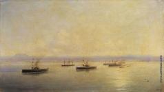 Айвазовский И. К. Флот в виду Севастополя