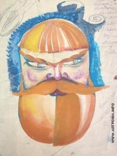 Федоровский Ф. Ф. Мужчина с бородой (эскиз)