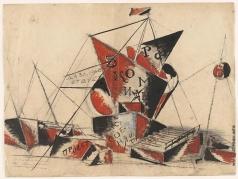 Веснин А. А. Эскиз памятника Третьему Интернационалу