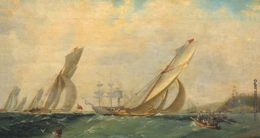 Айвазовский И. К. Фрегат на море