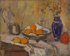 Удальцова Н. А. Натюрморт с вазой и апельсинами