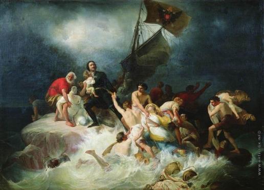 Шамшин П. М. Петр Великий спасает утопающих на Лахте