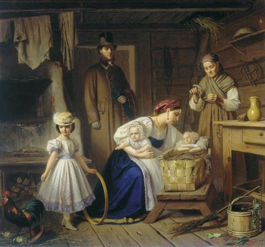 Вениг К. Б. Кормилица навещает своего ребенка