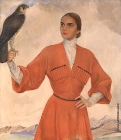 Сорин С. А. Девушка с ловчим соколом