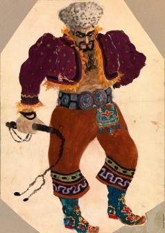 Ходасевич В. М. Эскиз костюма для балета Бориса Асафьева «Бахчисарайский фонтан»