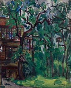 Анисфельд Б. И. Дом в лесу (парк в Эванстоне)