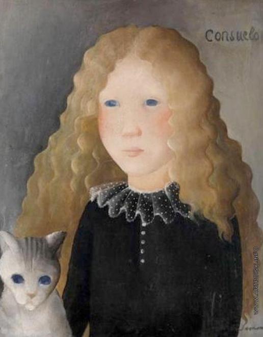 Сахарова О. Н. Девочка с кошкой