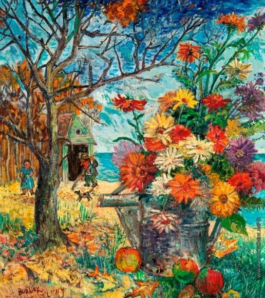 Бурлюк Д. Д. Натюрморт с цветами