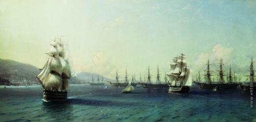Айвазовский И. К. Черноморский флот в Феодосии