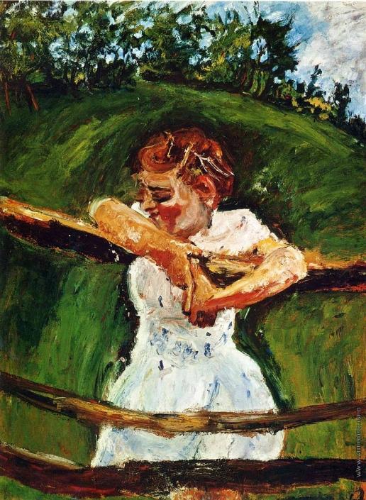 Сутин Х. С. Девочка на изгороди