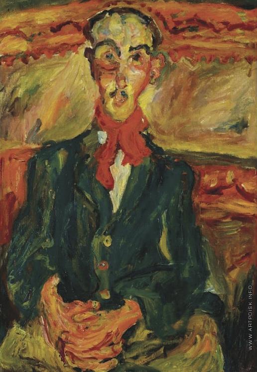 Сутин Х. С. Мужчина в красном шарфе