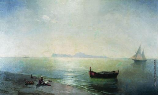 Айвазовский И. К. Штиль. Вид Капри (Средиземное море)