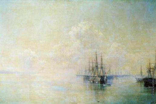 Айвазовский И. К. Эскадра Черноморского флота перед выходом на Севастопольский рейд