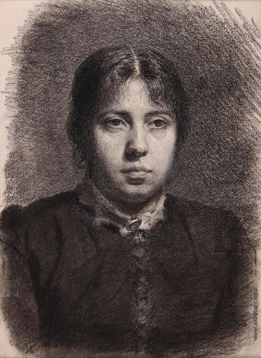 Суриков В. И. Портрет Е.А. Суриковой