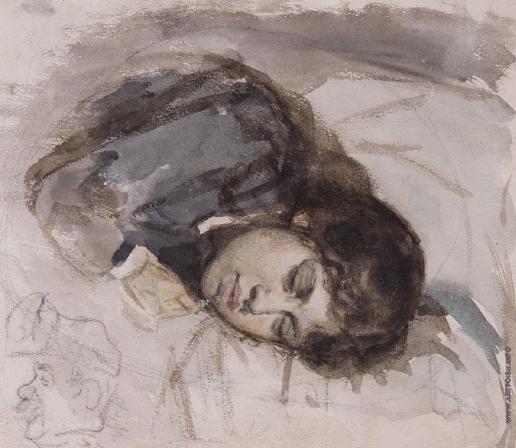 Суриков В. И. Спящая девушка, жена художника
