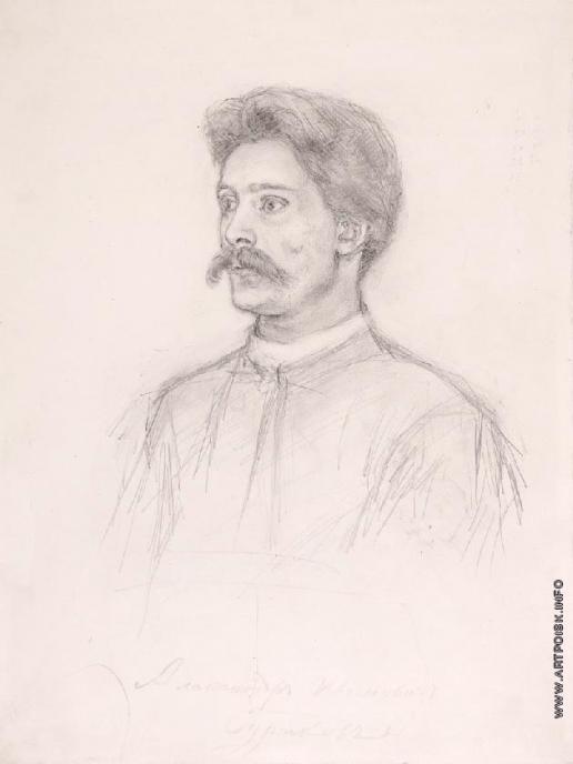 Суриков В. И. Портрет А.И. Сурикова, брата художника