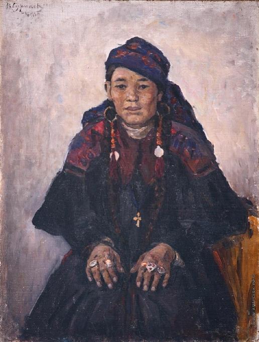 Суриков В. И. Портрет хакаски