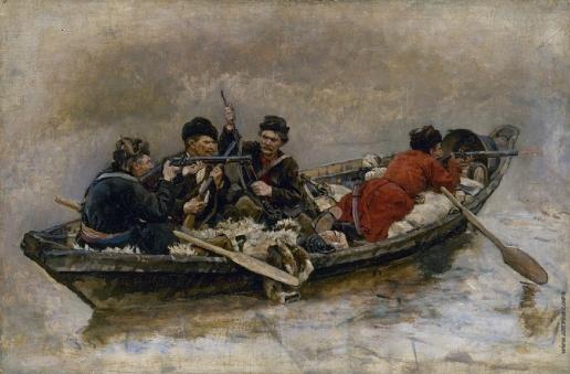 Суриков В. И. Казаки в лодке