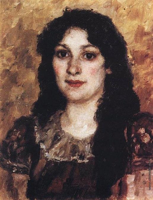 Суриков В. И. Портрет Елизаветы Августовны Суриковой, жены художника