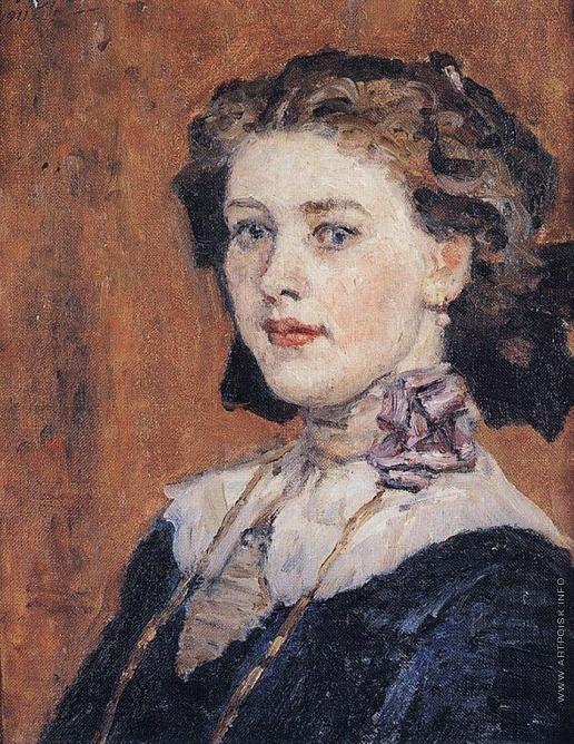 Суриков В. И. Портрет молодой женщины.