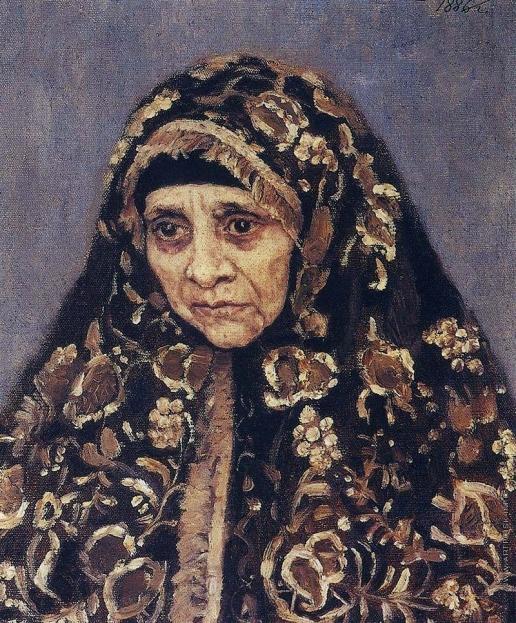 Суриков В. И. Старуха в узорчатом платке