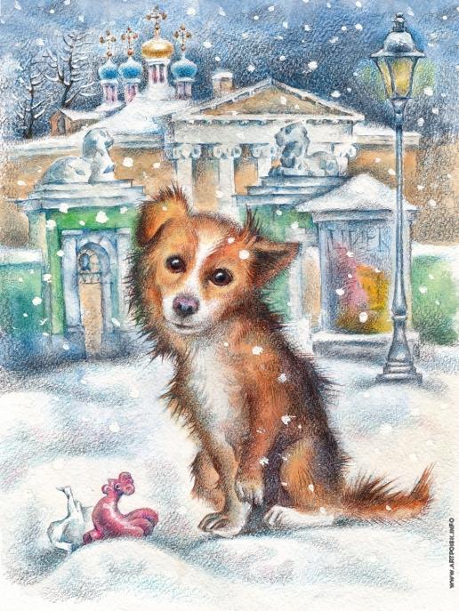 Комракова Е. А. Иллюстрация к детской книге стихов