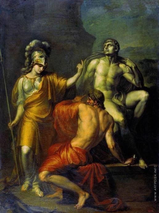 Акимов И. А. Прометей делает статую по приказанию Минервы