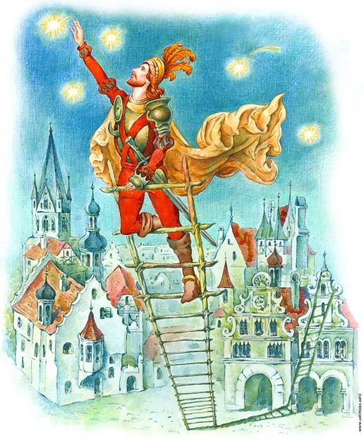 """Комракова Е. А. Иллюстрация к сказке Лидии Чарской """"Чудесная звёздочка"""""""