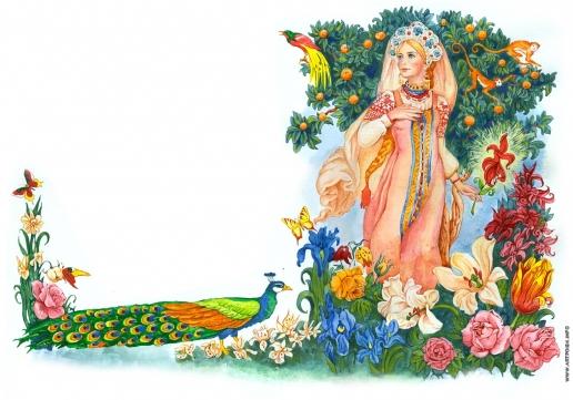 """Комракова Е. А. Иллюстрация к сказке """"Аленький цветочек"""""""