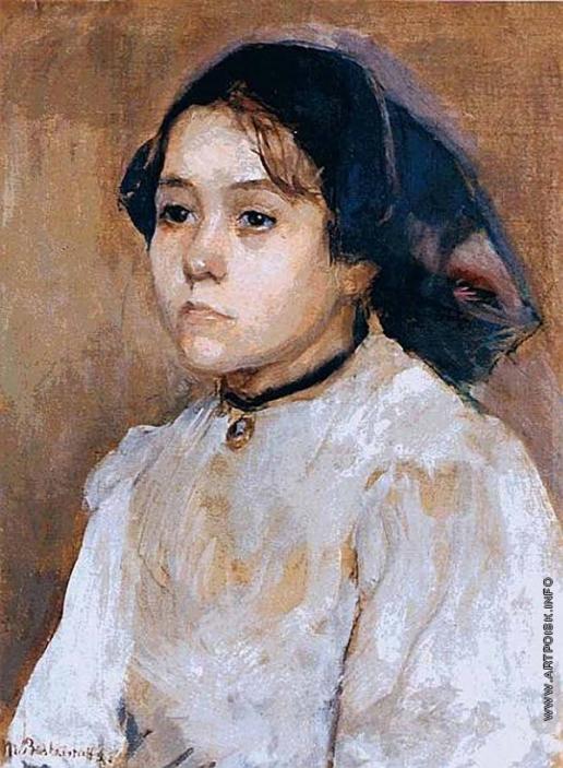 Башкирцева М. К. Портрет молодой девушки